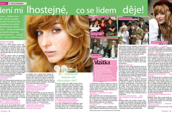 časopis překvapení o Vice Kerekeš